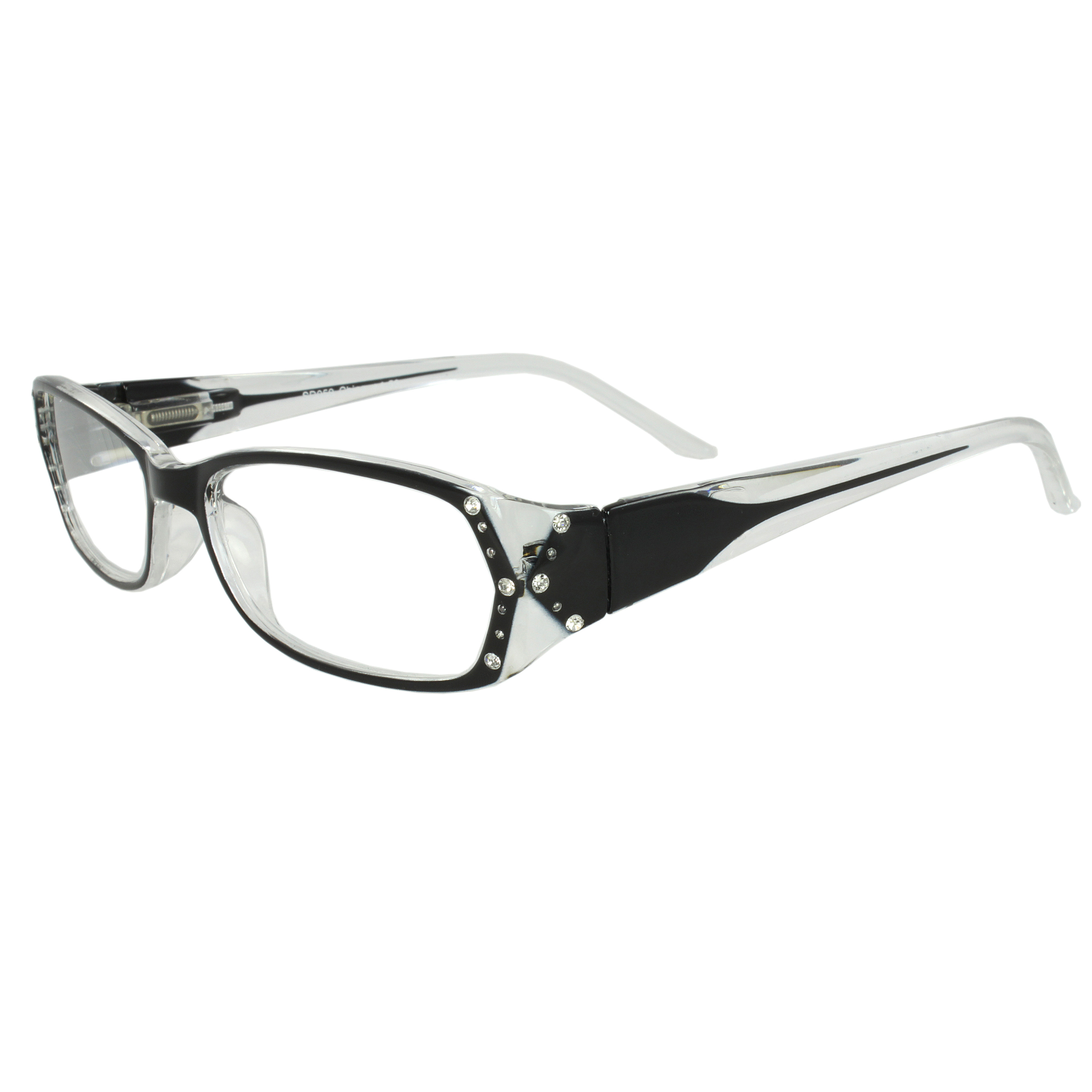 Rectangle Fashion Reading Glass Black Frame with Power vision + 1.75 for Women and Men - Walmart.com | Tuggl