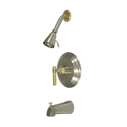 Kingston Brass Milano Single Handle Tub and Shower Faucet