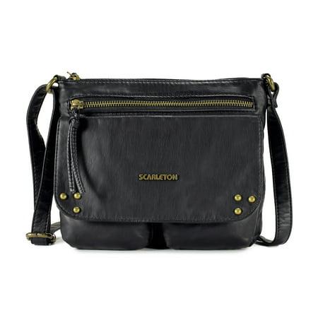 Scarleton Trendy Stitch Accent Flap Crossbody Bag H1992