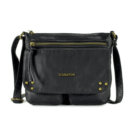 Scarleton Trendy Stitch Accent Flap Crossbody Bag