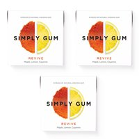 Simply Gum, Revive Chewing Gum, Non GMO, Vegan, 15 Pcs, 3 Ct