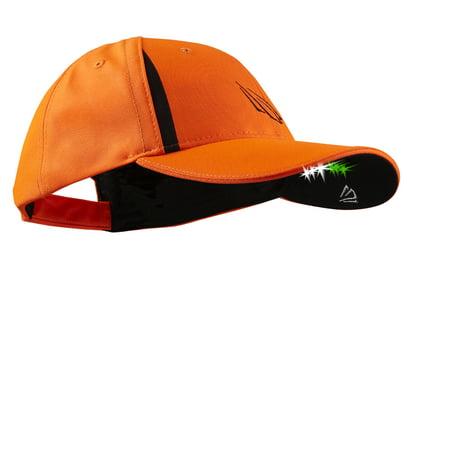 Powercap Pro Series 6 Led Lighted Structured Hat  3White 3Green  Blaze Orange