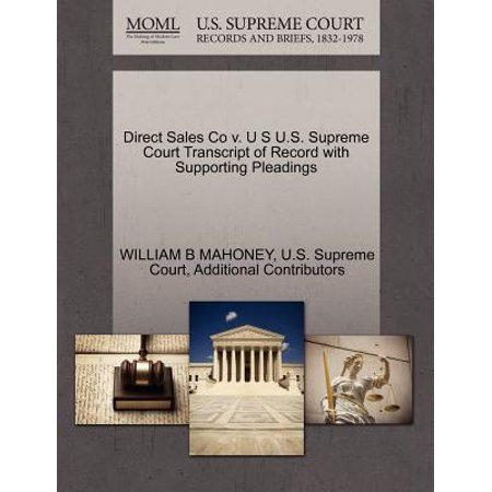 Sale Vintage Record (Direct Sales Co V. U S U.S. Supreme Court Transcript of Record with Supporting Pleadings )