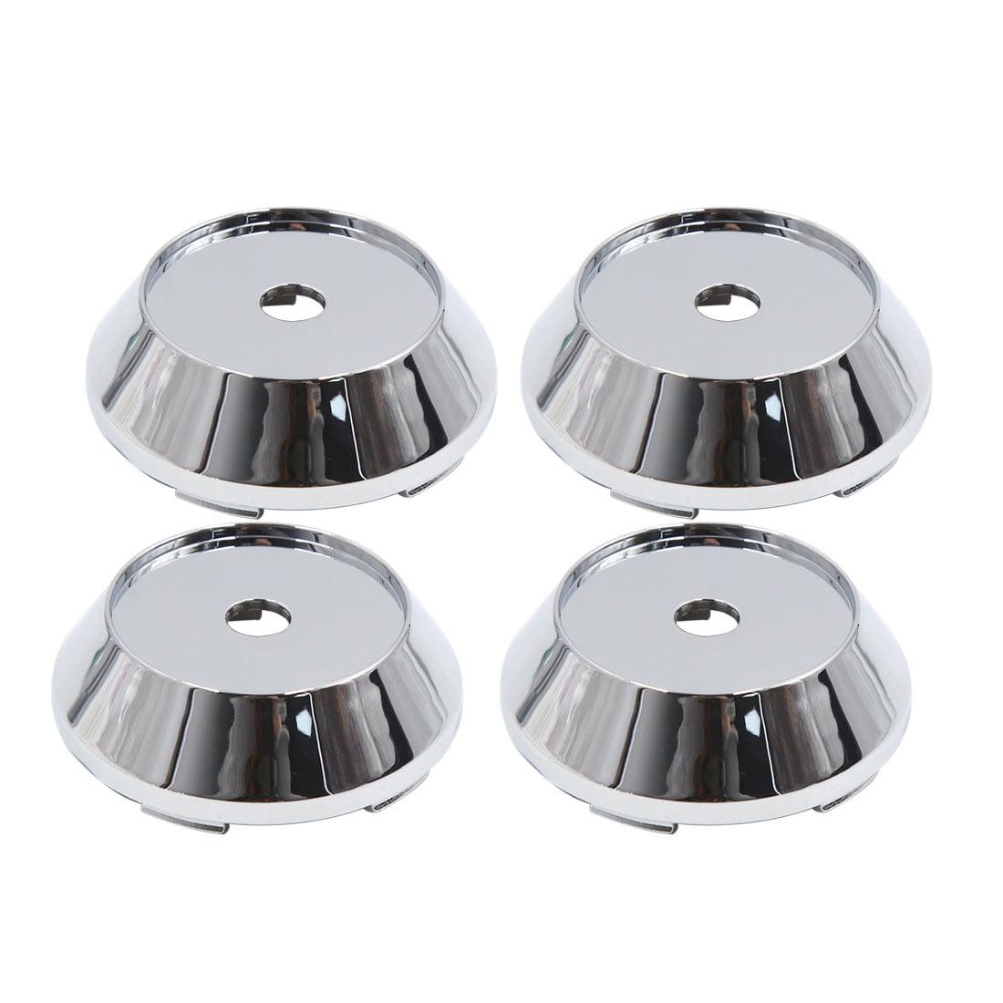 4pcs 65mm Dia 5 Clips Car Wheel Tyre Center Hub Caps Covers Protector Chrome