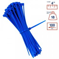 746e1faa7f6b Product Image BCT 4 Inch 18 lb Cable Ties - Light Duty Industrial/Home Use  - Bag