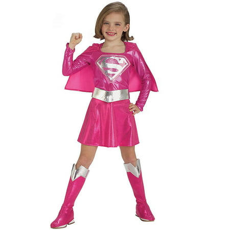 Pink Supergirl Child Halloween - Superman And Supergirl