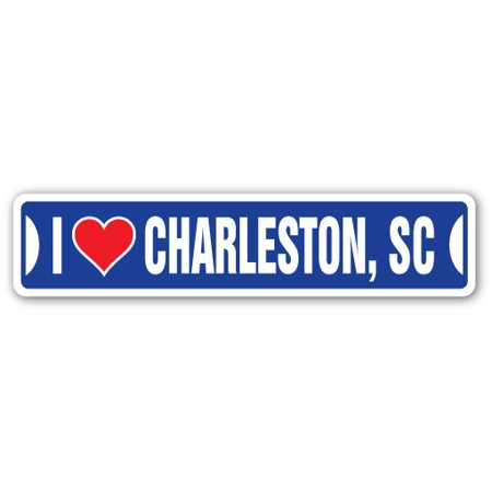 I LOVE CHARLESTON, SOUTH CAROLINA Street Sign sc city state us wall road décor gift](Party City In Charleston Sc)