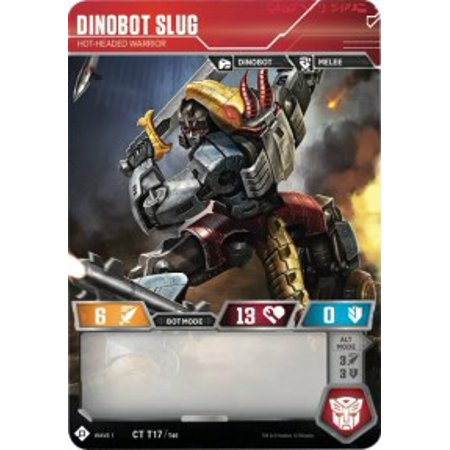 Transformers Wave 1 Dinobot Slug - Hot-Headed Warrior T17