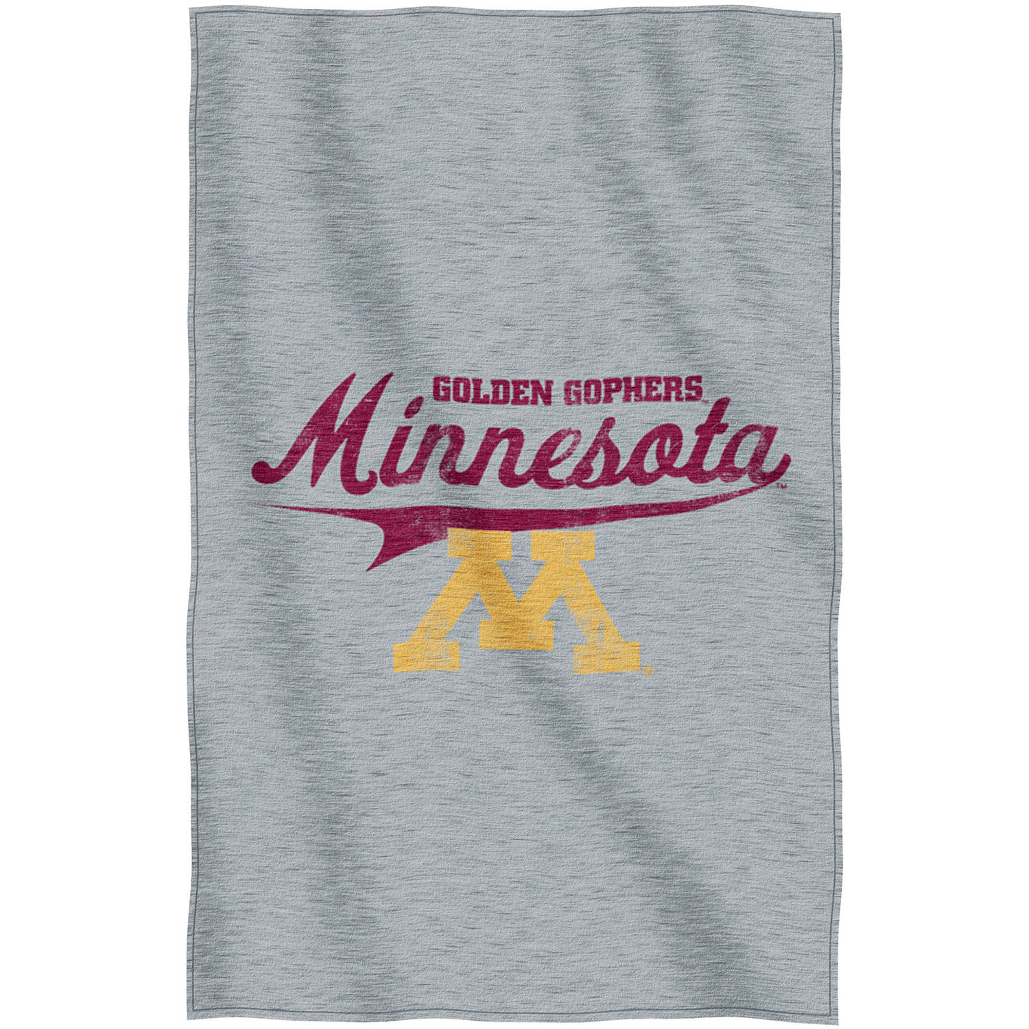 "NCAA Minnesota Golden Gophers ""Script"" 54"" x 84"" Sweatshirt Throw"