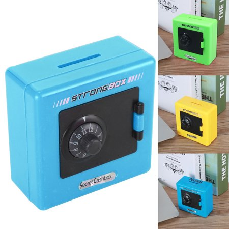 Combination Lock Money Coin Saving Storage Box Code Cash Safe Case Piggys Bank Break Glass Money Box