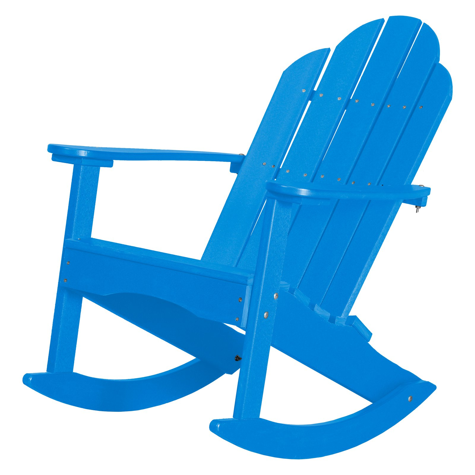 WILDRIDGE Classic Plastic Adirondack Rocker Chair