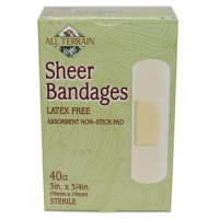 Latex-Free Bandages, First Aid for Minor Cuts, Scrapes & Burns, Absorbent Non-Stick Pad, Blend in with Your Skin, 40 ct Sterile, All Terrain.., By All Terrain