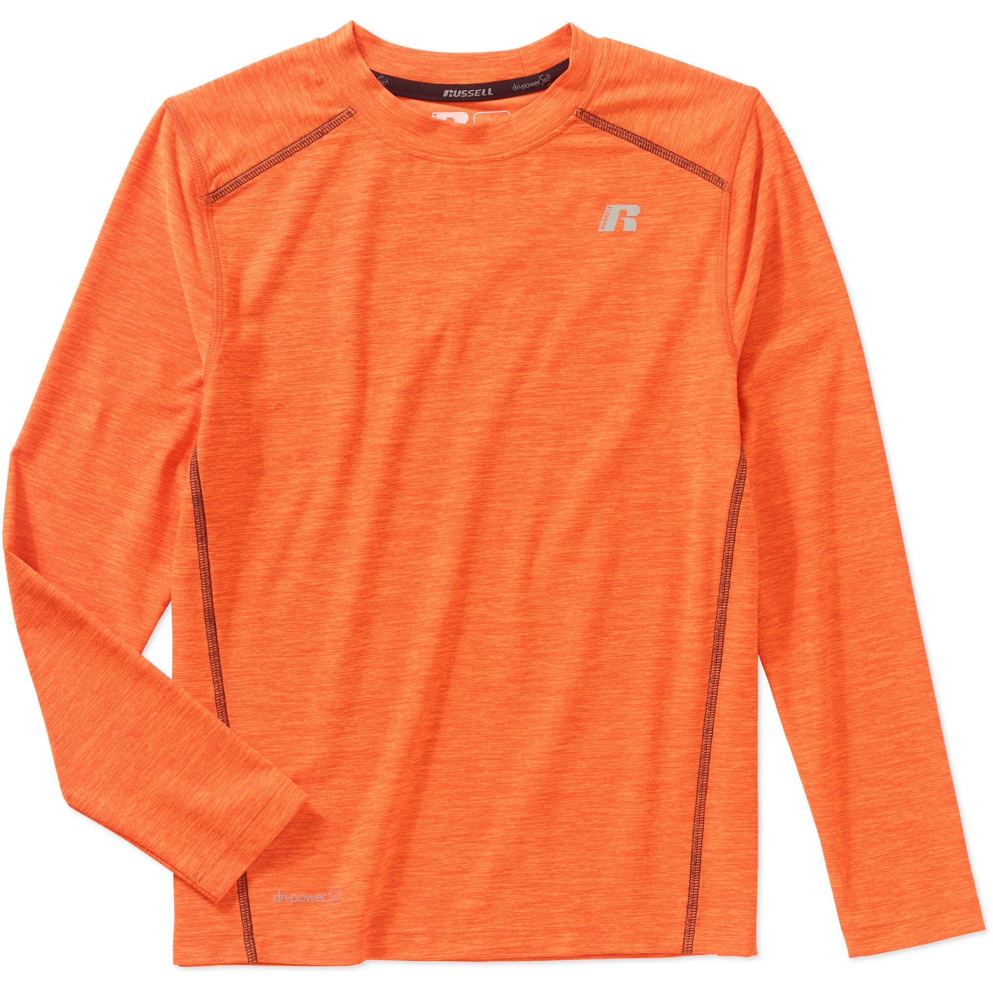 Russell Boys' Long Sleeve Sueded Tee