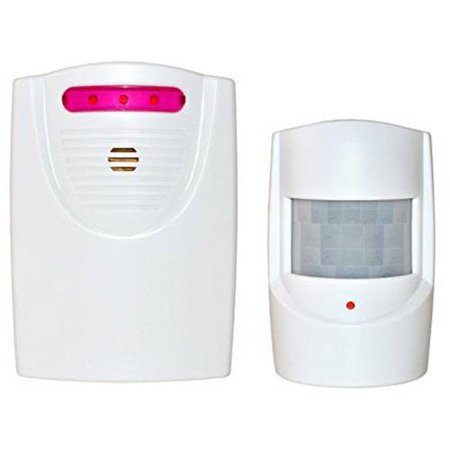 - ALEKO QH-9822A White Safety Driveway Patrol Infrared And Wireless Home Security Alert Alarm System Kit