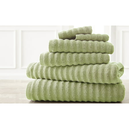 Wavy Luxury Spa Collection 6 Piece Quick Dry Towel