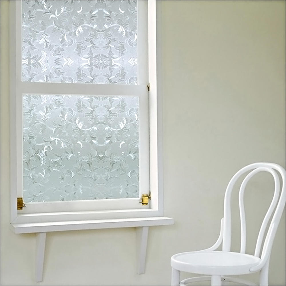 "LIVINGbasics™ 3D Static Decorative Privacy Window Films with Heat Control Anti UV , 24"" x 79"" - image 2 of 5"