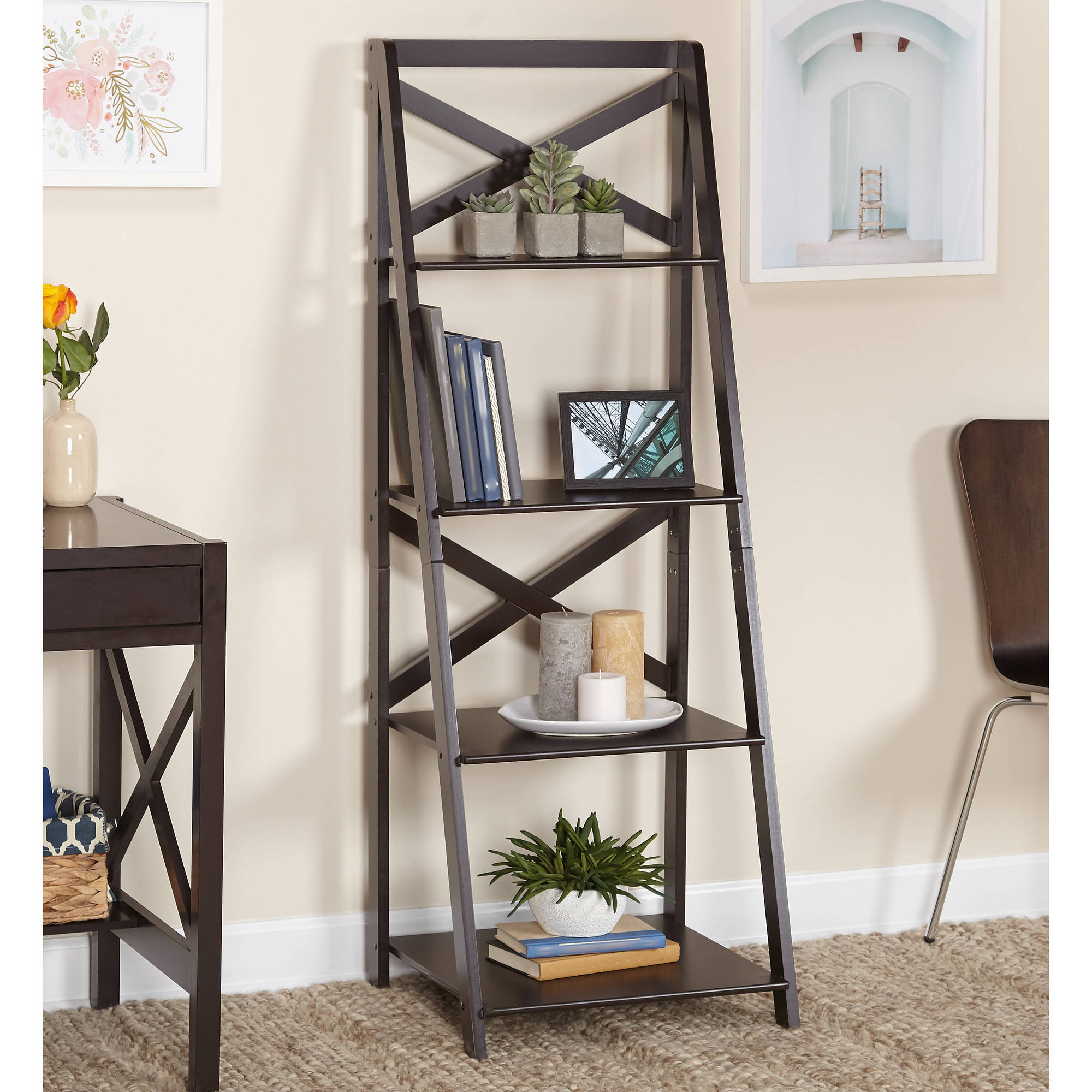 TMS X 4-Tier Shelf, Multiple Finishes