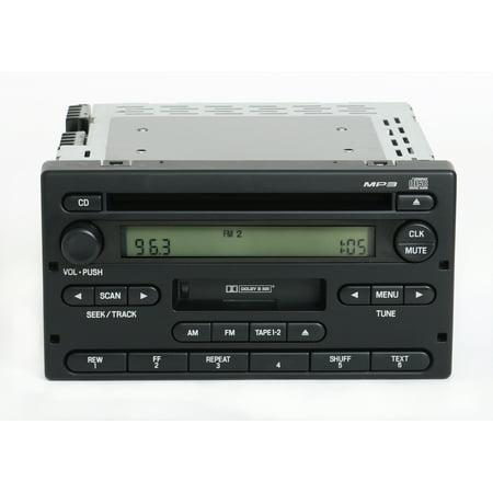Ford Ranger 2004-2005 Radio AM FM CD Cassette Player Part Number 4L5T-18C868-AF - Refurbished ()
