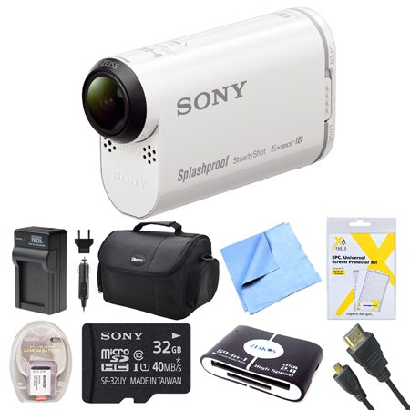 Sony Hdras200vw Hdr As200vw As200v W As200 Video Handycam Camcorder Bundle With Deluxe Bag 32gb Mico Sd Card Ac Dc Charger Hdmi Cable Battery