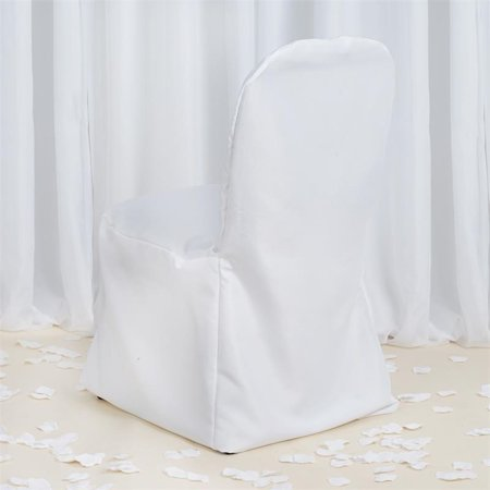 Balsacircle Premium Polyester Folding Flat Chair Cover Wedding