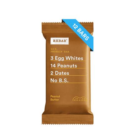 - RXBAR Peanut Butter Whole Food Protein Bars, Gluten Free, 12 Ct