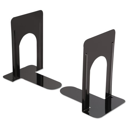 Universal Economy Bookends  Nonskid  5 7 8 X 8 1 4 X 9  Heavy Gauge Steel  Black