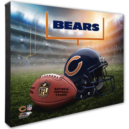 "Chicago Bears 16"" x 20"" Helmet & Stadium Canvas - No Size"