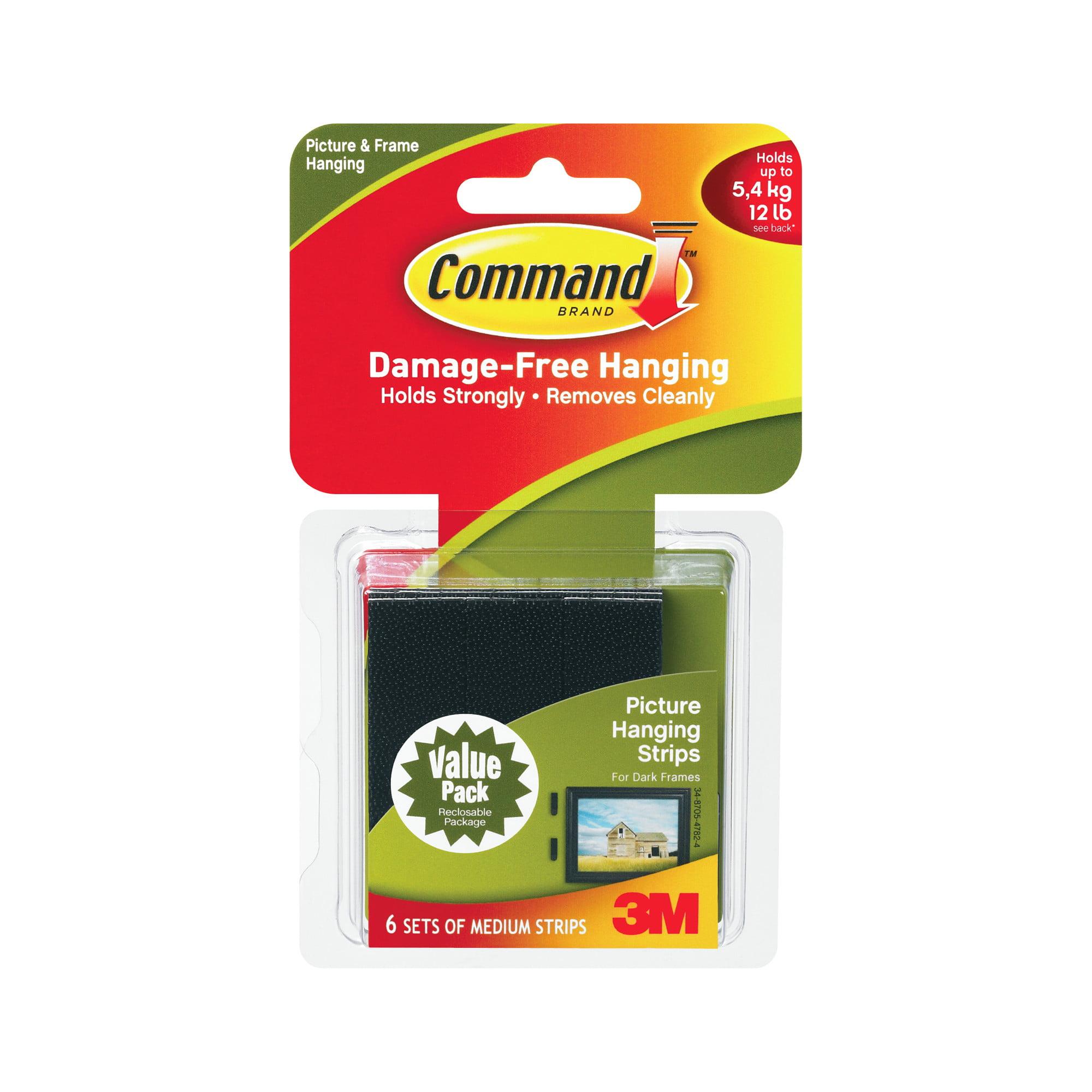 Command Damage-Free Hanging Medium Picture Hanging Strips - 6 PRS, 6.0 PR