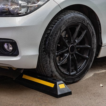 Laser Parking Guide - UBesGoo Heavy Duty Rubber Parking Curb Guide Car Garage Wheel Stop Stoppers