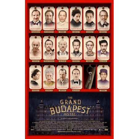 Grand Budapest Hotel Poster Metal Sign 8in x 12in (Hotel Metal)