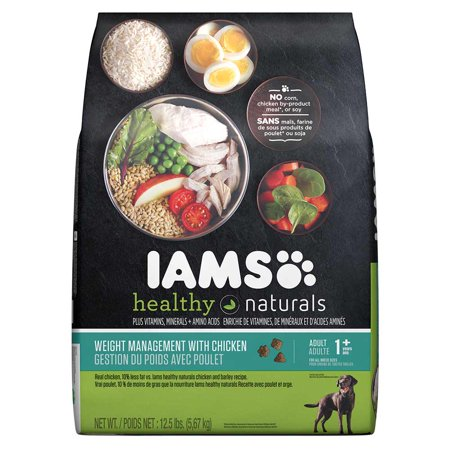 Iams Healthy Naturals Adult Weight Management With Chicken Dry Dog Food 12 5 Pounds