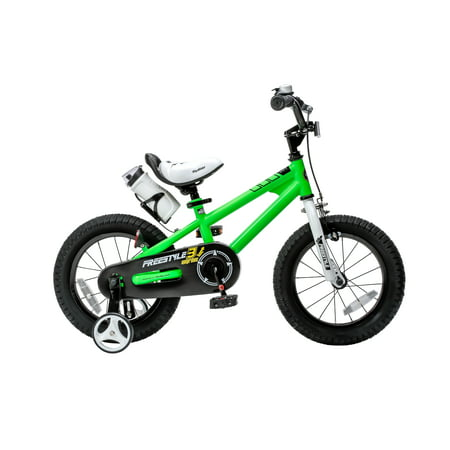 Old School Freestyle Green (RoyalBaby Freestyle Green 14 inch Kid's Bicycle )