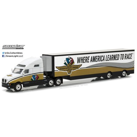Greenlight 1:64 2017 Kenworth T2000 Indy Motor Speedway Transporter Hobby -