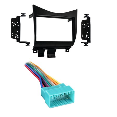 Metra 95-7862 Double DIN Installation Dash Kit for Honda Accord (Black) W/ Metra 70-1721 Wiring Harness for 1998-2005 Acura/Suzuki/Honda Vehicles
