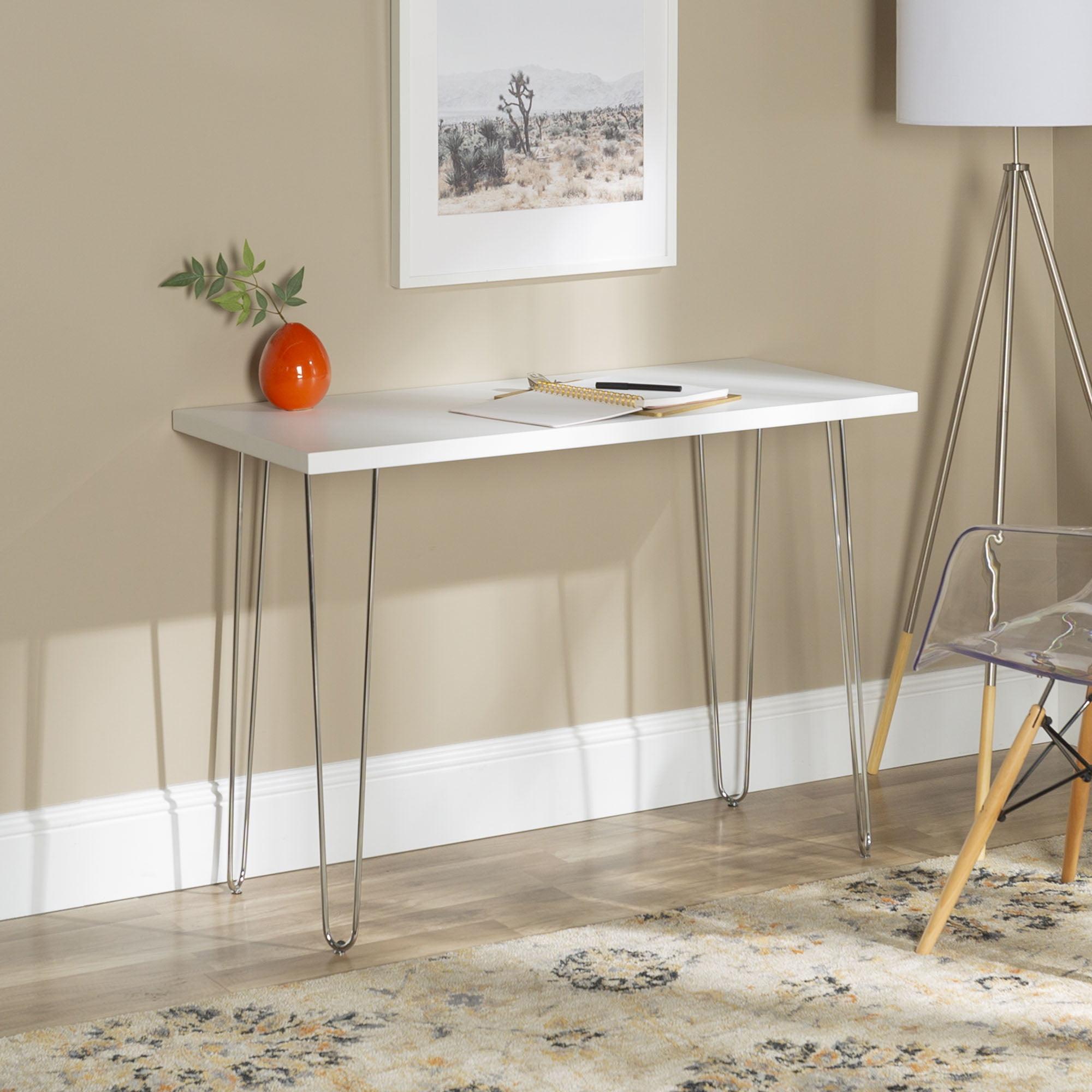 Image of: Manor Park Mid Century Modern Wood Computer Desk White Walmart Com Walmart Com