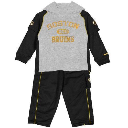 Reebok NHL Toddler Boy's Boston Bruins 2-Piece Faux Layer Shirt and Pants Set by