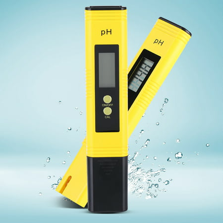 Protable LCD Digital PH Meter Pen Aquarium Pool Water Wine Tester Tool , Digital PH Meter, PH Tester ()