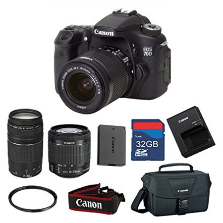Canon EOS 70D 20 2 MP AF Full HD 1080p DSLR Camera with EF-S