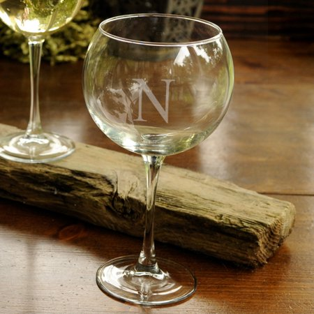 Personalized Wine Glasses - Red Wine Glass - Monogram ()