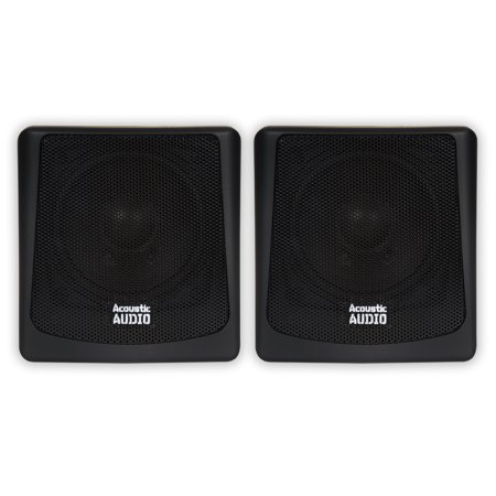 Acoustic Audio AA051B Mountable Indoor or Outdoor Speakers Black Bookshelf