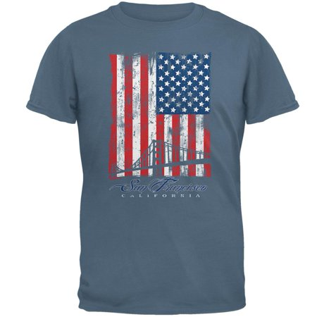 Flag Bridge San Francisco California Oversize Mens T Shirt