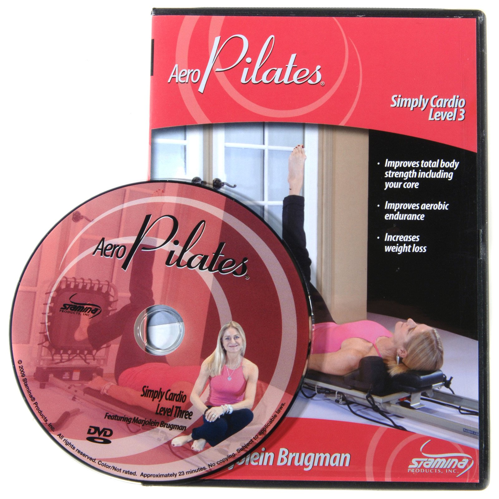 Stamina AeroPilates Level Three Simply Cardio Workout DVD with Marjolein Brugman