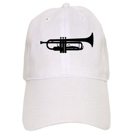 CafePress - Trumpet Silhouette - Printed Adjustable Baseball Cap