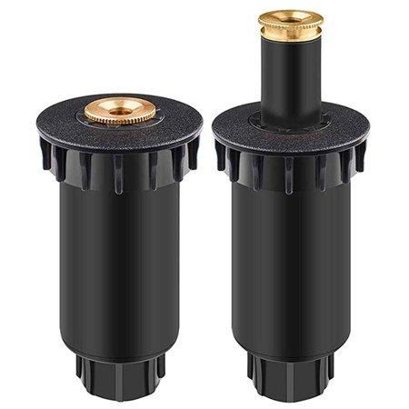 Wideskall Premium Pop-Up Sprinkler, 180° Half Circle Pattern, 8' - 15' Spray Distance, 2