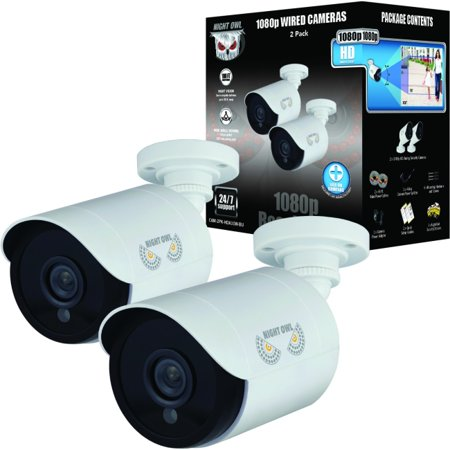 Night Owl 2 Pack Add?On 1080p HD Wired Security Bullet Cameras
