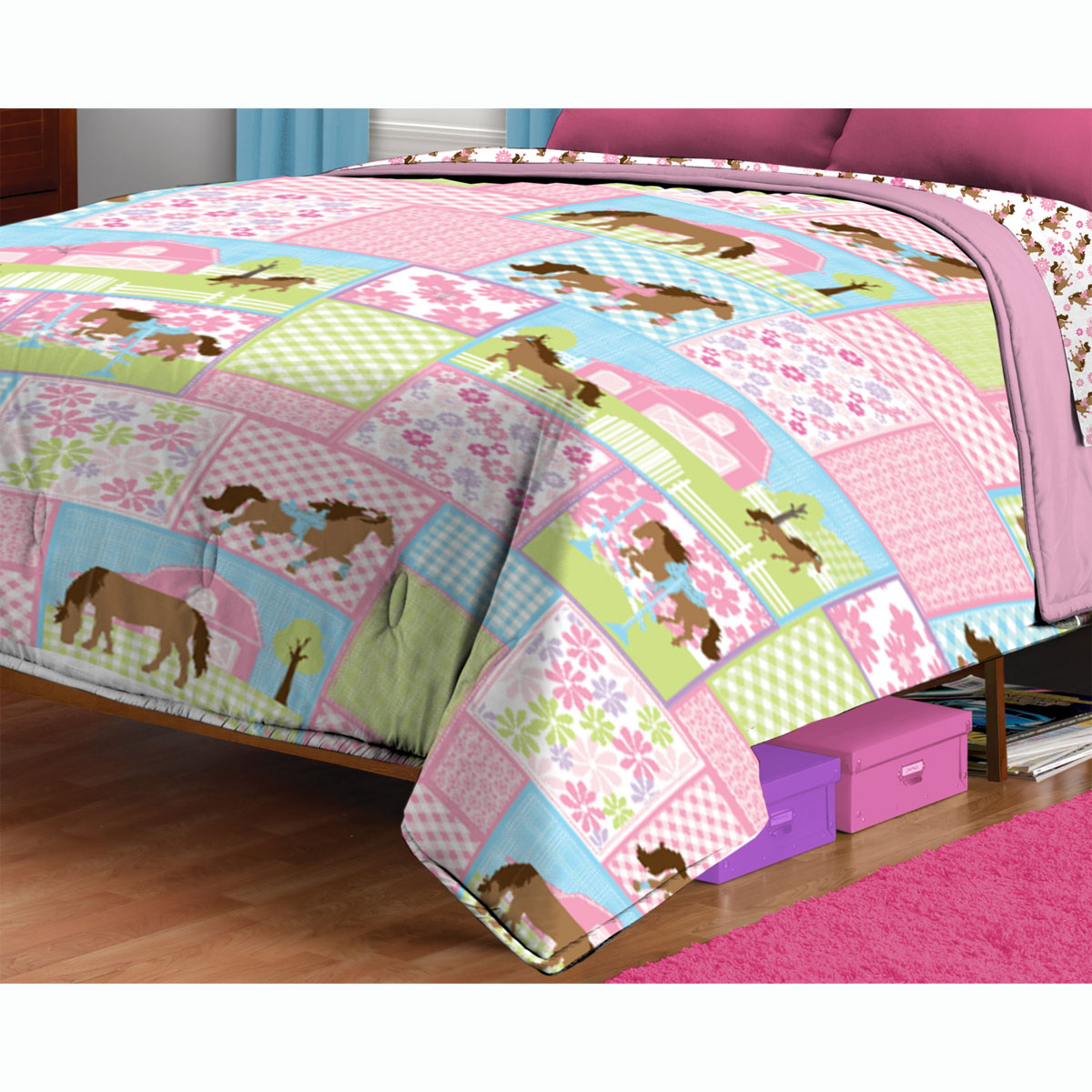 Twin Bed Comforter Pretty Pony Bedding