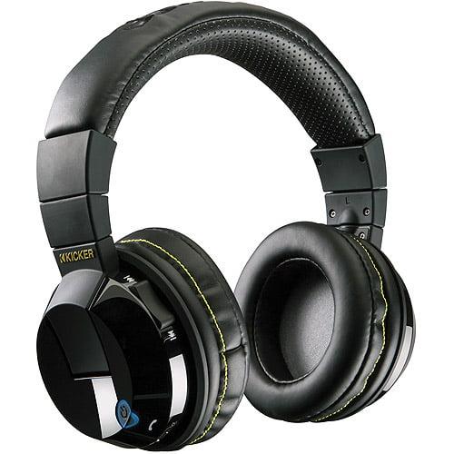 Kicker HP402BT Tabor Bluetooth Wireless Headphones, Black