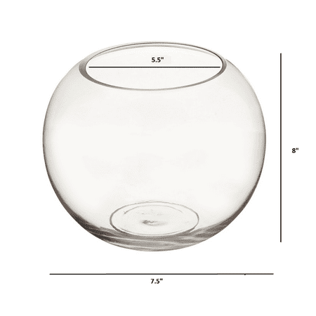 "8"" x 8""  Clear Bubble Bowl Vase"