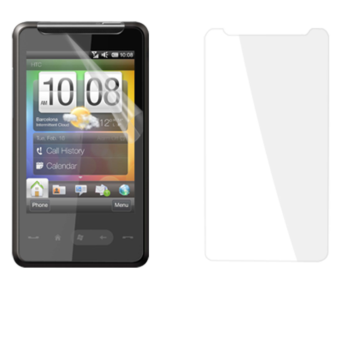 Unique Bargains Smooth Transparent Touch Screen Shield for HTC HD Mini