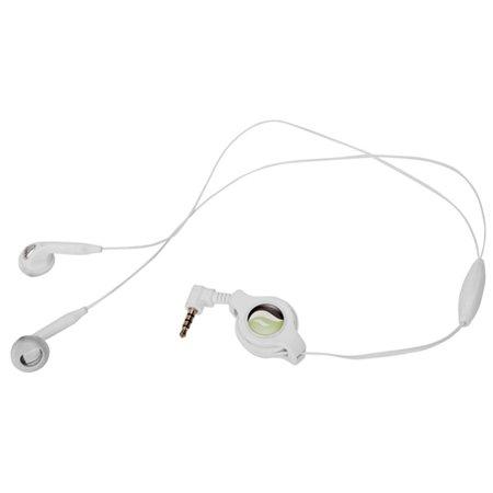 Retractable Headset Hands-free w Mic Dual Earbuds Earphones D9A for ZTE Blade Max 2S, Axon M, Force, ZPad 8, Warp 7, Overture 3, Prestige 2 (N9136), Maven 2, Nubia 11, Avid 916 828